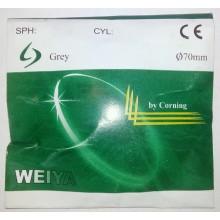Линзы минеральные фотохромные стекло Grey Weiya