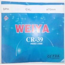 Линзы пластиковые CR 1.5 WEIYA